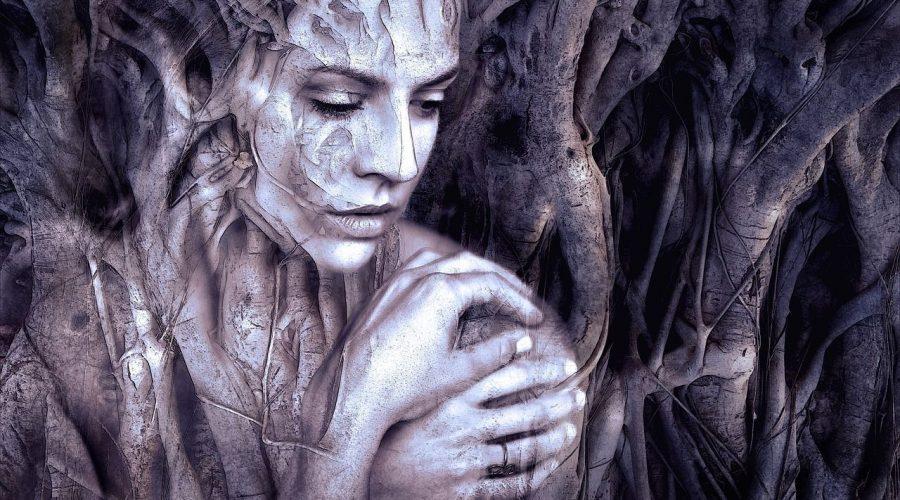 La sombra de la mujer romántica